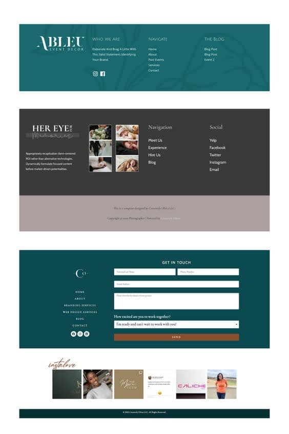 Website Footer Design