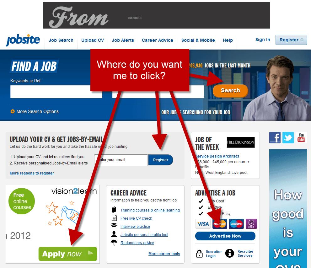 Mistakes In Website Design- CTA's