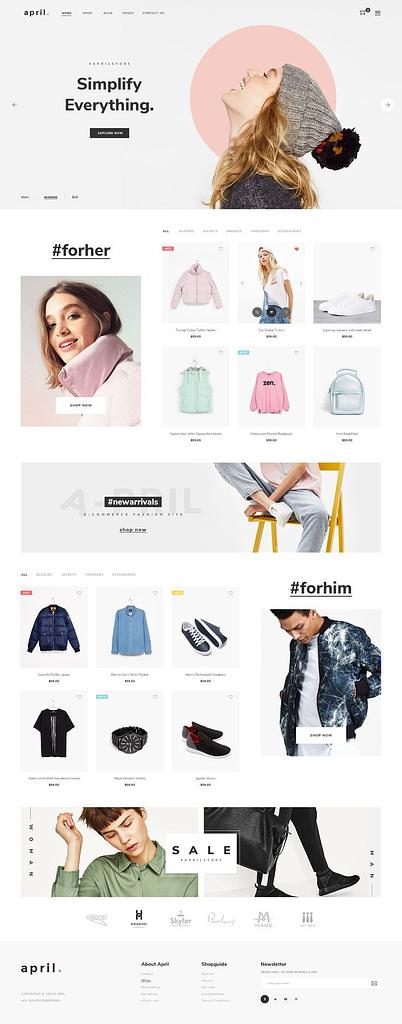 Ecommerce Website Design Template
