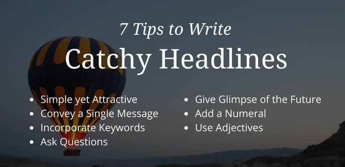 Catchy Content Marketing Headlines